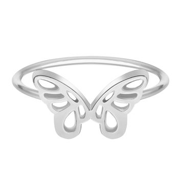 Delicate Butterfly Animal Engagement Rings for Women
