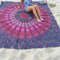 Hippie Tapestries, Mandala Tapestries, Tapestry Wall Hanging, Bohemian Tapestries, Wall Hanging, Indian Tapestry Diameter 150CM