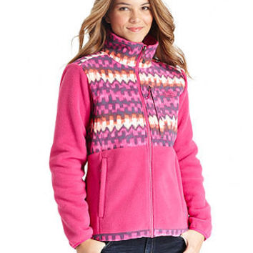 The North Face Jacket, Denali Ikat-Print Fleece - Womens The North Face Jackets & Coats - Macy's