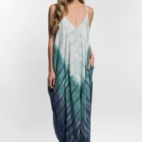 Garment Dyed Cocoon Maxi Dress