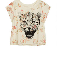 Floral Leopard Tee