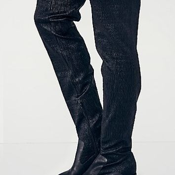 Jeffrey Campbell + Free People Womens Gabryle Stretch Tall Boot