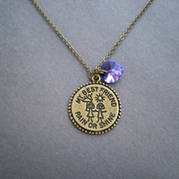 Rain or Shine Best friends necklace