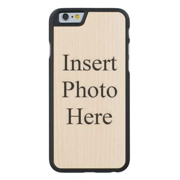 Design Your Own Custom Photo Carved® Maple iPhone 6 Case