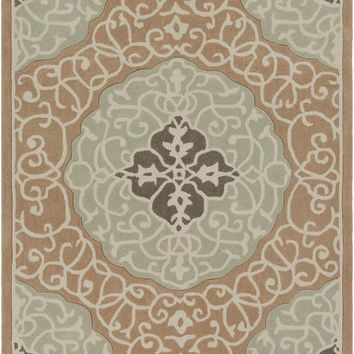 Surya Cosmopolitan Medallions and Damask Green COS-9292 Area Rug