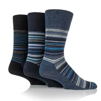 Non Binding Socks for Men or Women in Stanley Stripe