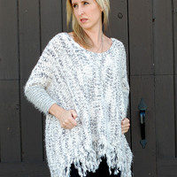 On The Fringe Chuncky Knit Sweater