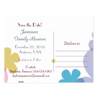 Save the Date for Family Reunion Postcard