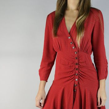 Solid Crop Sleeve Button Down Mini Dress