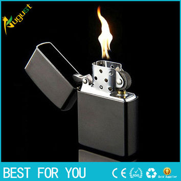 10pcs/lot  kerosene austria oil lighter vintage refillable cigarette case  lighter tobacco antique black case