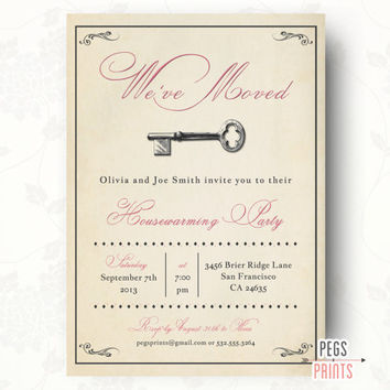 Vintage Housewarming Party Invitation - Rustic Housewarming Party Invitation (Printable)