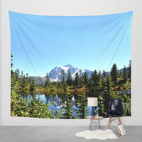 Wall Tapestry - 'Mountains are Calling' - Home, Wall, Decor, Modern, Home, Warming Gift, Symmetry, Bohemian, Boho, Nature, Landscape, Scenic