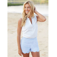 KATHERINE SCALLOP SHORT