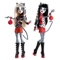 Exclusive Monster High Werecat Sister Doll Pack - Meowlody and Purrsephone