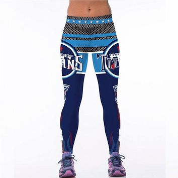 Tennessee Titans Printed Team Leggings