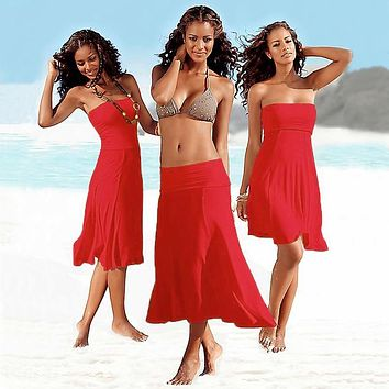 Beach Cover up dress Matches Bikini Convertible infinite Sexy Women Beach wear