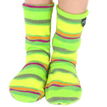 Kids' Fleece Socks - Limeade
