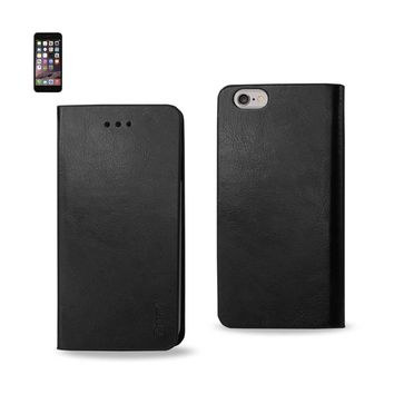 New Flip Folio Case With Card Holder In Black For iPhone 6 Plus By Reiko