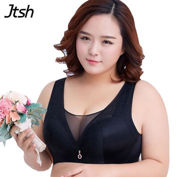 Sexy Wireless C D DD E Cotton Spandex Push Up Plus Size Bras Women Big Size Bra 46DD 48DD 50D 50E 50EE 44DD 42DD 40DD Brassiere