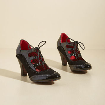 Banned Whimsical Wingtips Lace-Up Heel