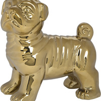 Gold Pug Figurine