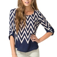 Get to the Point Chevron Top