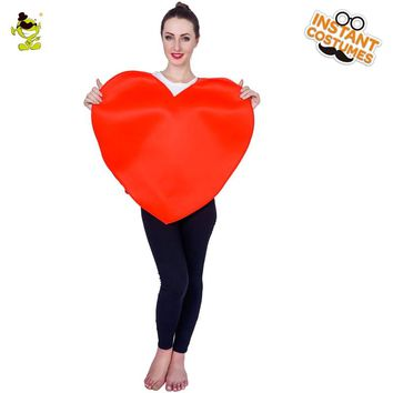 2018 Women's Heart Costume Jumpsuit  Cartoon Cosplay Emoji Mascot Costumes For Adults Performance