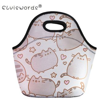 Cute Pusheen Cat Print Thermal Insulated Lunch Bags 16 Styles