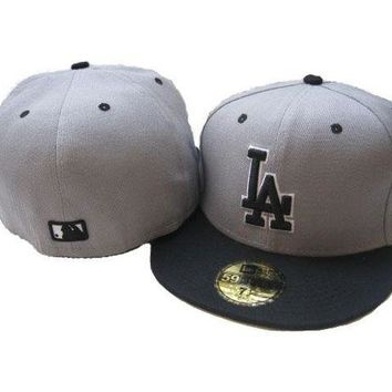 DCCKBE6 Los Angeles Dodgers New Era MLB Authentic Collection 59FIFTY Cap Grey-Black LA