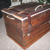 Rustic Handmade Hope Chest wood over 150 yrs. old | BUFFSCREATIVESTUFF - Woodworking on ArtFire