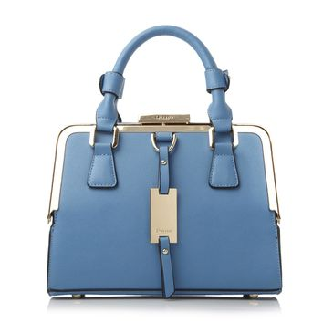 DUNE ACCESSORIES DINIDIANA - Small Structured Metal Frame Top Handbag - light blue | Dune Shoes Online