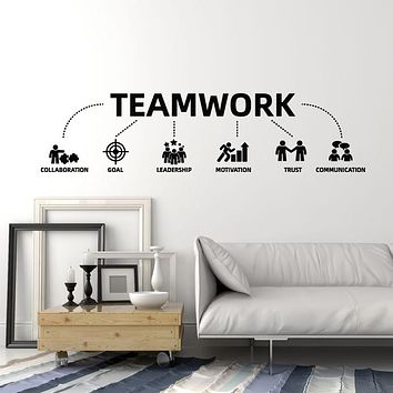 Vinyl Wall Decal Teamwork Motivation Trust Communication Office Style Stickers Mural (g1839)
