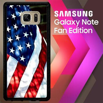 4Th Of July Flag Country E0888 Samsung Galaxy Note FE Fan Edition Case