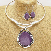 Passion Purple Necklace Set