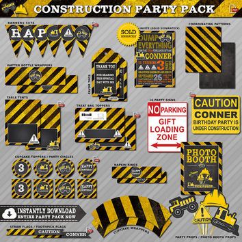 Construction Party Decor, Construction Birthday Party, Construction Party, Construction Party Decorations, Construction Party Kit