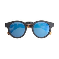 Illesteva For J.Crew Leonard Blue Mirrored Sunglasses