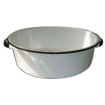 Granite-Ware® 6416-4 Porcelain-On-Steel Dish Pan with Handles, White, 15 Qt