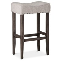 "Threshold™ Linen Saddle 29"" Barstool"