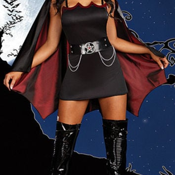 Halloween Vampire Costumes For Women Fashion Sexy Braces Dress With Cloak Carnival Cosplay Female Party Clothing
