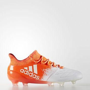 adidas X 16.1 Leather Firm Ground Cleats - White | adidas US