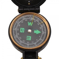 Military Hiking Camping Lensatic Lens Compass Black