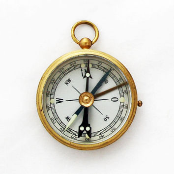 Vintage German Stockert Brass Pocket Compass