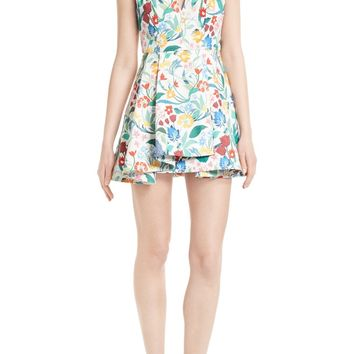 Alice + Olivia Tanner Floral Asymmetrical Dress | Nordstrom