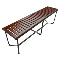 "Solid Wood Bench 60"", Brown"