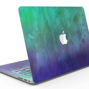 Blotted Green 97 Absorbed Watercolor Texture - MacBook Air Skin Kit