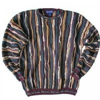 Purple & Tan Textured Cosby Style Tacky Ugly Sweater Men's Size XL
