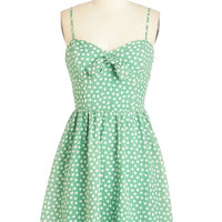ModCloth Fruits Mid-length Spaghetti Straps A-line An Apple a Daydream Dress