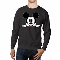 Mickey Mouse Peeking Disney Unisex Sweaters - 54R Sweater