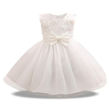 Summer petal baby dress kids wear girls Princess little dress 1 year birthday flower girl dress for wedding party toddler outfit
