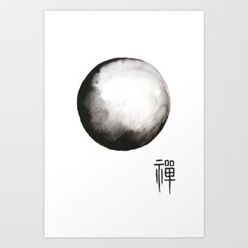 Zen painting and Chinese calligraphy Art Print by Color and Color